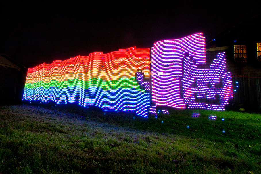 NYAN CAT nyan cat light graffiti 01 Culture   Nyan Cat
