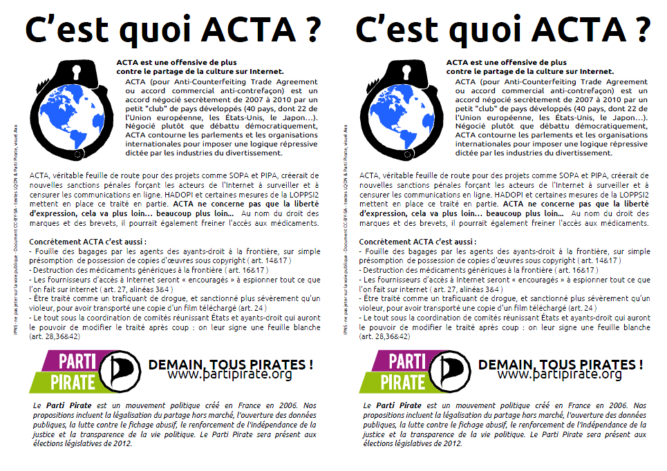 2012 0709 acta Semaine #07  #09 (2012)  Acta, copie prive et droit dauteur !