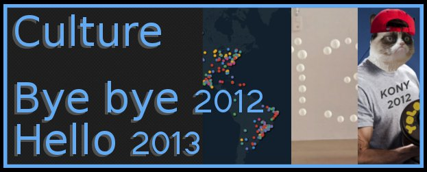 Culture 2012 2013 Culture – « Good Bye 2012 ! Hello 2013... »